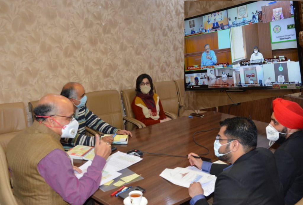 कैबिनेट सचिव ने तेलंगाना, महाराष्ट्र, छत्तीसगढ़, मध्य प्रदेश, गुजरात, पंजाब, जम्मू एवं कश्मीर और बंगाल में कोविड मामलों में तेज वृद्धि की समीक्षा की
